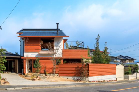 シンケンの実例集、朝陽がうれしい桜ヶ丘の家の外観