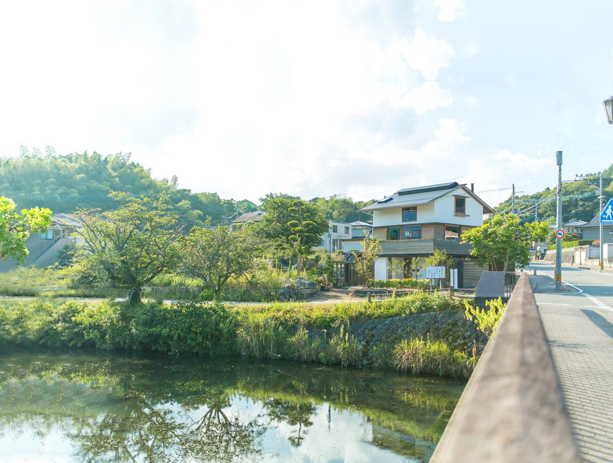 シンケン福岡県糟屋郡久山町の個別見学、河畔のビューテラス