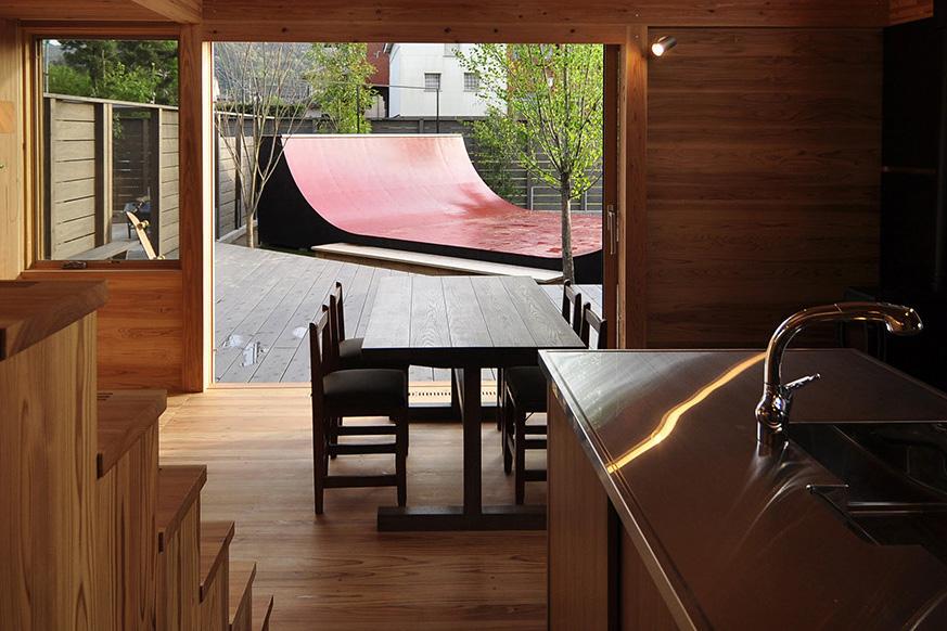 スケートバンクのある家