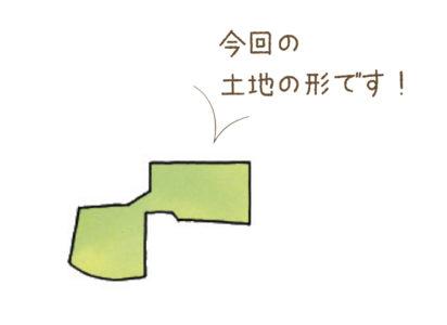 ひょうたん型の変形地に建つ家
