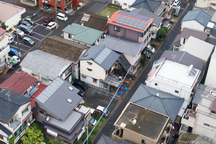 28坪に建つ 街中に心地いい家